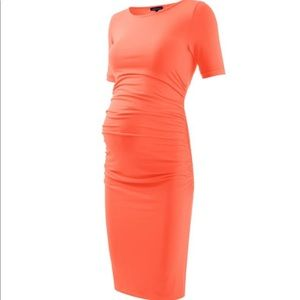 Orange maternity dress
